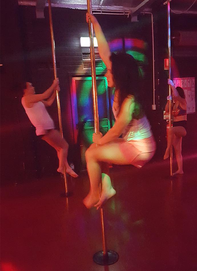 Non sexual pole dancing